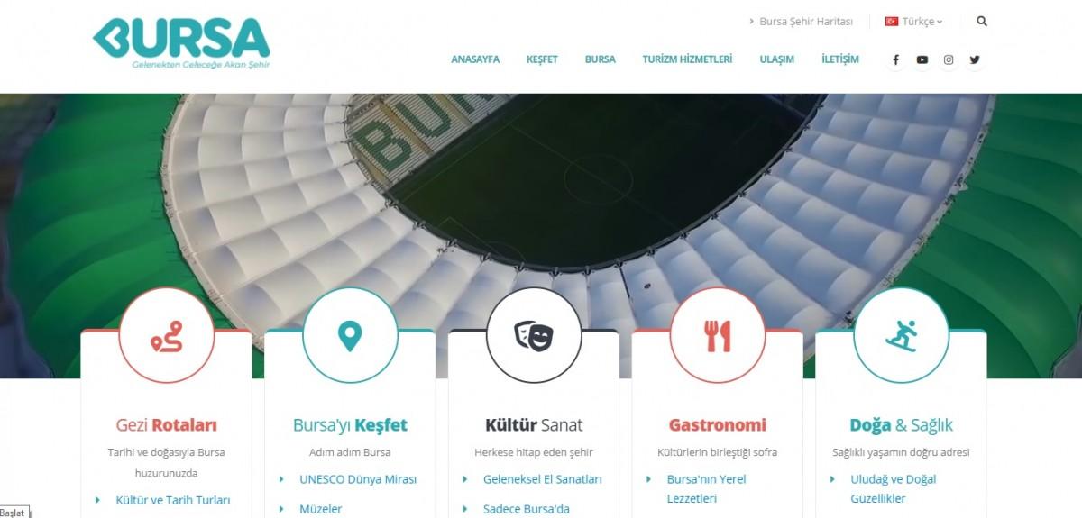 Bursa'nın turizm portalı yayında