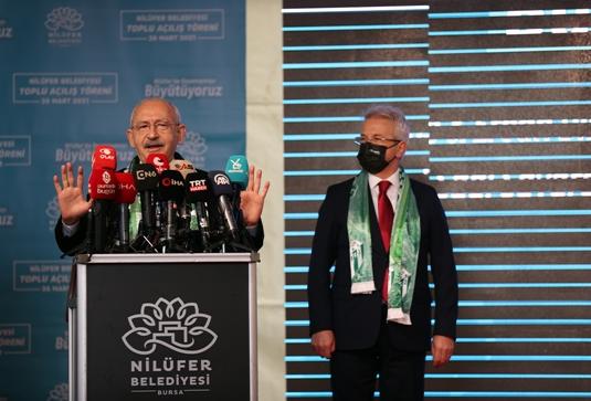 CHP Genel Başkanı Kılıçdaroğlu Bursa'da konuştu