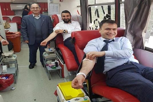 Alemdar mahalle muhtarlığından kan bağışı