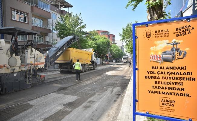 Profesör Tezok Caddesi sil baştan yenileniyor