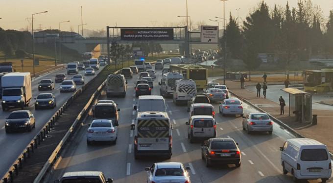 Çevre Otoyolunda trafik düzenlemesi