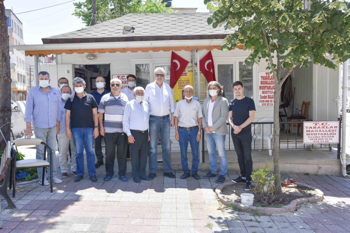 Başkan Özkan'dan modernize edilen muhtarlıklara ziyaret