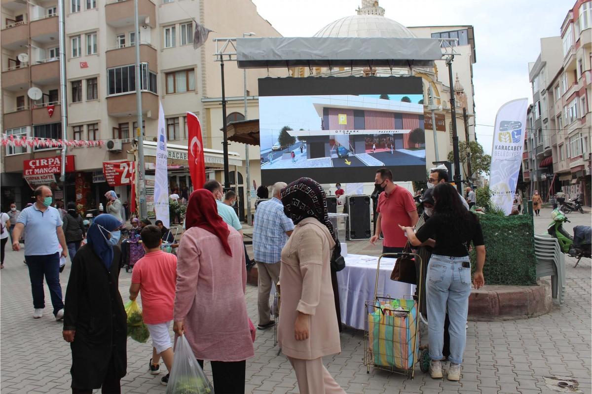 Karacabey'de pazaryeri projesi halka soruldu