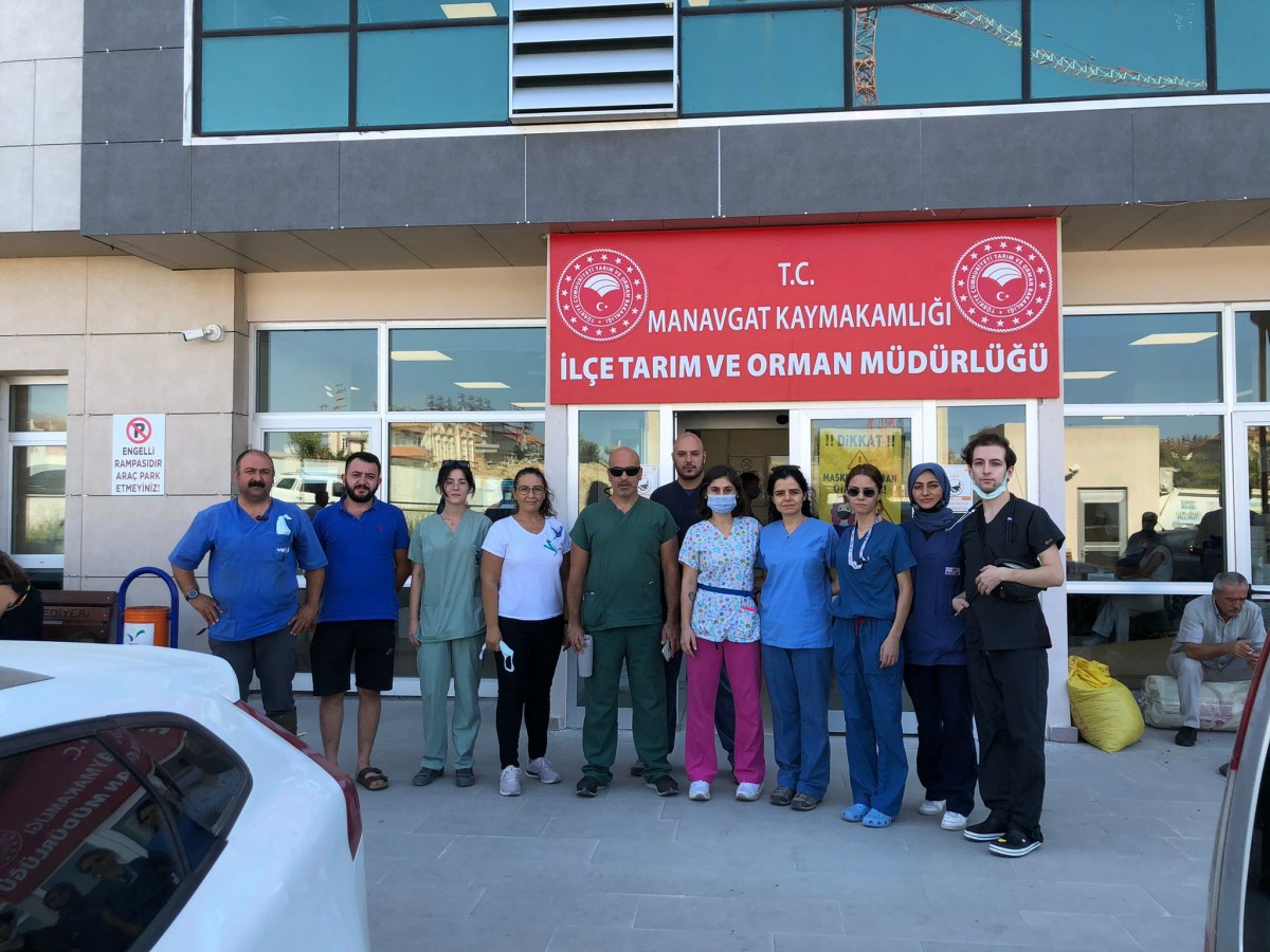 Veteriner Fakültesi'nden yangın bölgesine yardım eli