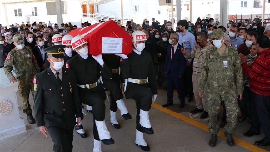 Uzman Onbaşı Mehmet Can Kaya memleketi Gaziantep'te son yolculuğuna uğurlandı
