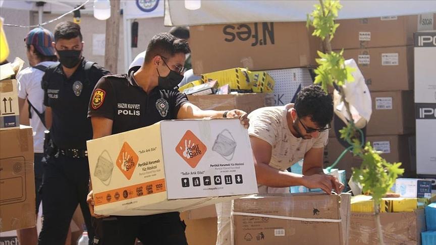 Emniyet Teşkilatından Muğla'daki orman yangını olan ilçelere destek