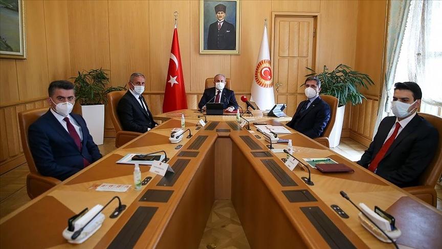 TBMM Başkanı Şentop, YTB Başkanı Eren ve Almanya'dan gelen STK yöneticilerini kabul etti
