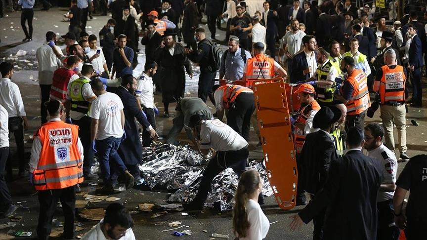 İsrail'de, Lag BaOmer Bayramı kutlamalarında yaşanan izdiham nedeniyle 44 kişi öldü