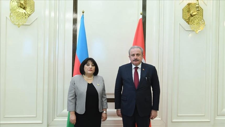 Azerbaycan Milli Meclis Başkanı Gafarova, Şentop'a, Biden'ın açıklamasından duyduğu üzüntüyü ifade etti