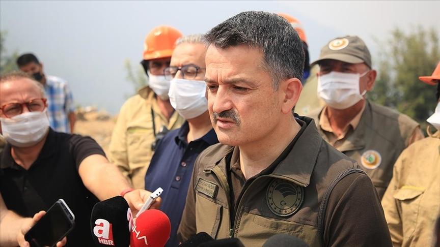 Bakan Pakdemirli'den 'Manavgat'taki orman yangını'na ilişkin açıklama