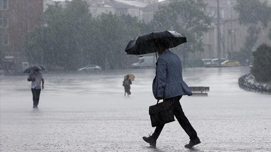 Meteorolojiden altı bölge için sağanak uyarısı