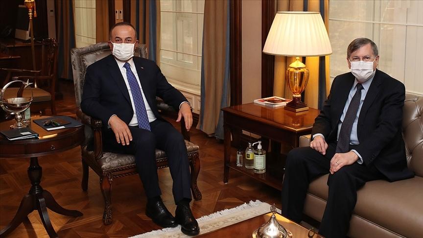 Bakan Çavuşoğlu ABD'nin Ankara Büyükelçisi Satterfield'i kabul etti