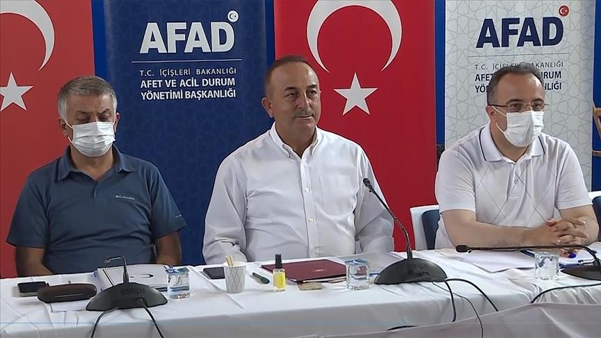 Dışişleri Bakanı Çavuşoğlu, AFAD Koordinasyon Merkezi'ndeki toplantıya katıldı