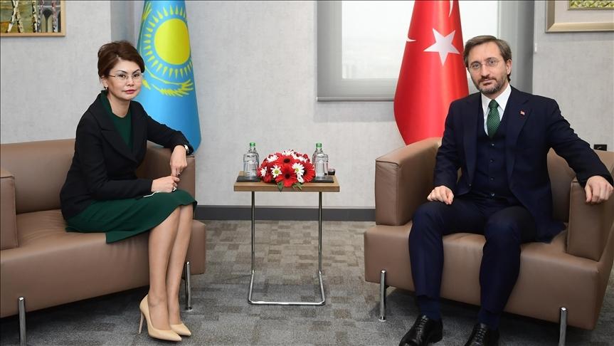 Cumhurbaşkanlığı İletişim Başkanı Altun, Kazak Bakan Balayeva ile bir araya geldi