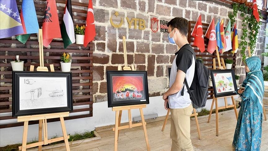Uluslararası öğrencilerden '15 Temmuz Demokrasi ve Milli Birlik Günü' programı