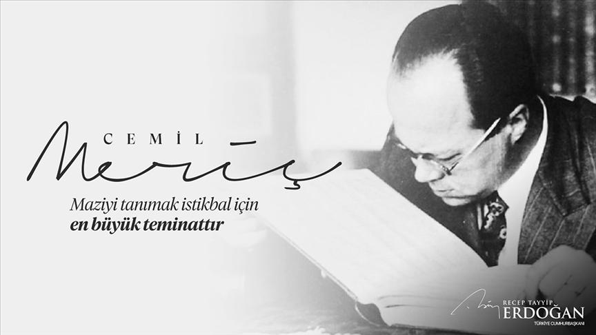 Cumhurbaşkanı Erdoğan Cemil Meriç'i andı