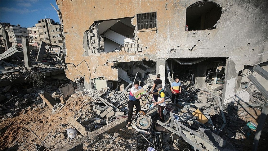 BM: İsrail'in Gazze'deki hava saldırıları sonucu sivil mülkler büyük hasar gördü, 200'den fazla konut yıkıldı