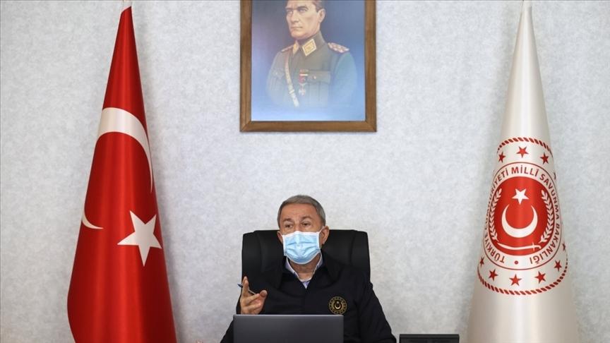 Milli Savunma Bakanı Akar: Metina ve Avaşin-Basyan'da 400'e yakın hedef karadan, 60'tan fazla hedef ise havadan vuruldu