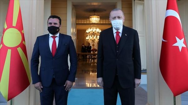 Cumhurbaşkanı Erdoğan, Kuzey Makedonya Başbakanı Zoran Zaev'i kabul etti