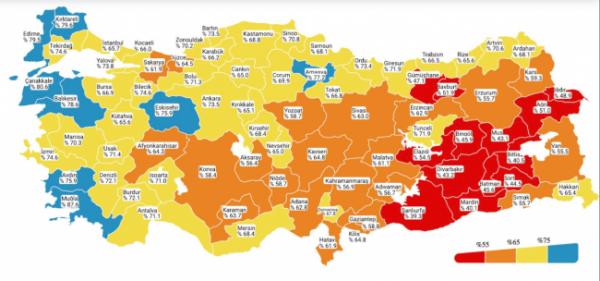 6 ilin risk renk haritası değişti