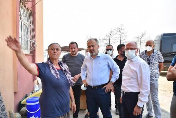 Başkan Davut Gürkan'dan afet bölgesine destek ziyareti