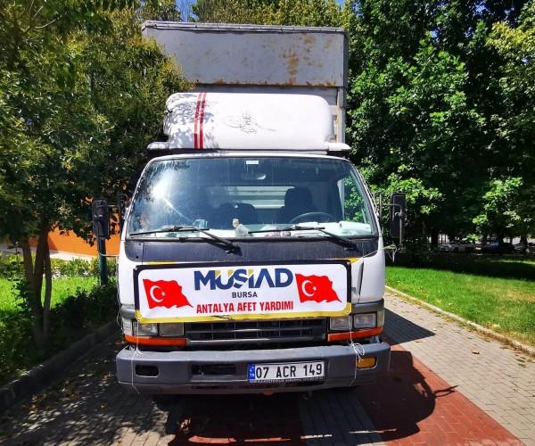 MÜSİAD Bursa'dan afet bölgesine destek