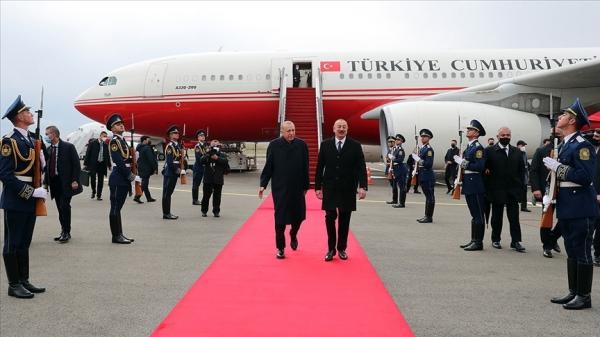 Cumhurbaşkanı Erdoğan Fuzuli Uluslararası Havalimanı'na iniş yapan ilk devlet başkanı oldu