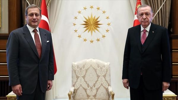 Cumhurbaşkanı Erdoğan Galatasaray Kulübü Başkanı Elmas'ı kabul etti