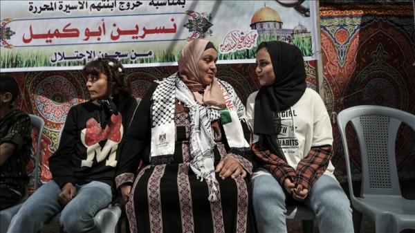 İsrail hapishanesinden çıkan Filistinli anne 6 yıl sonra çocuklarına kavuştu
