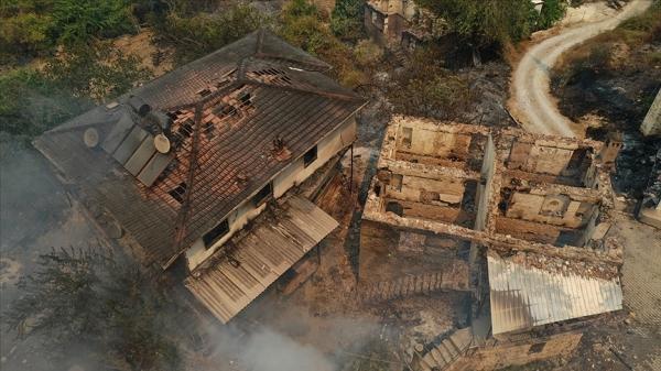 Yangınların yaşandığı bölgelerde hasar tespit çalışmaları devam ediyor