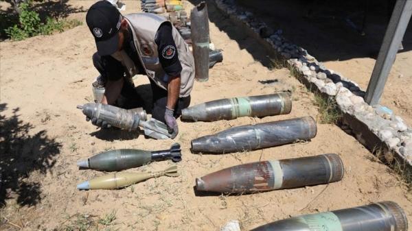 İsrail'in Gazze'ye attığı patlamamış 1200 füze, tank ve top mermisi etkisiz hale getirildi